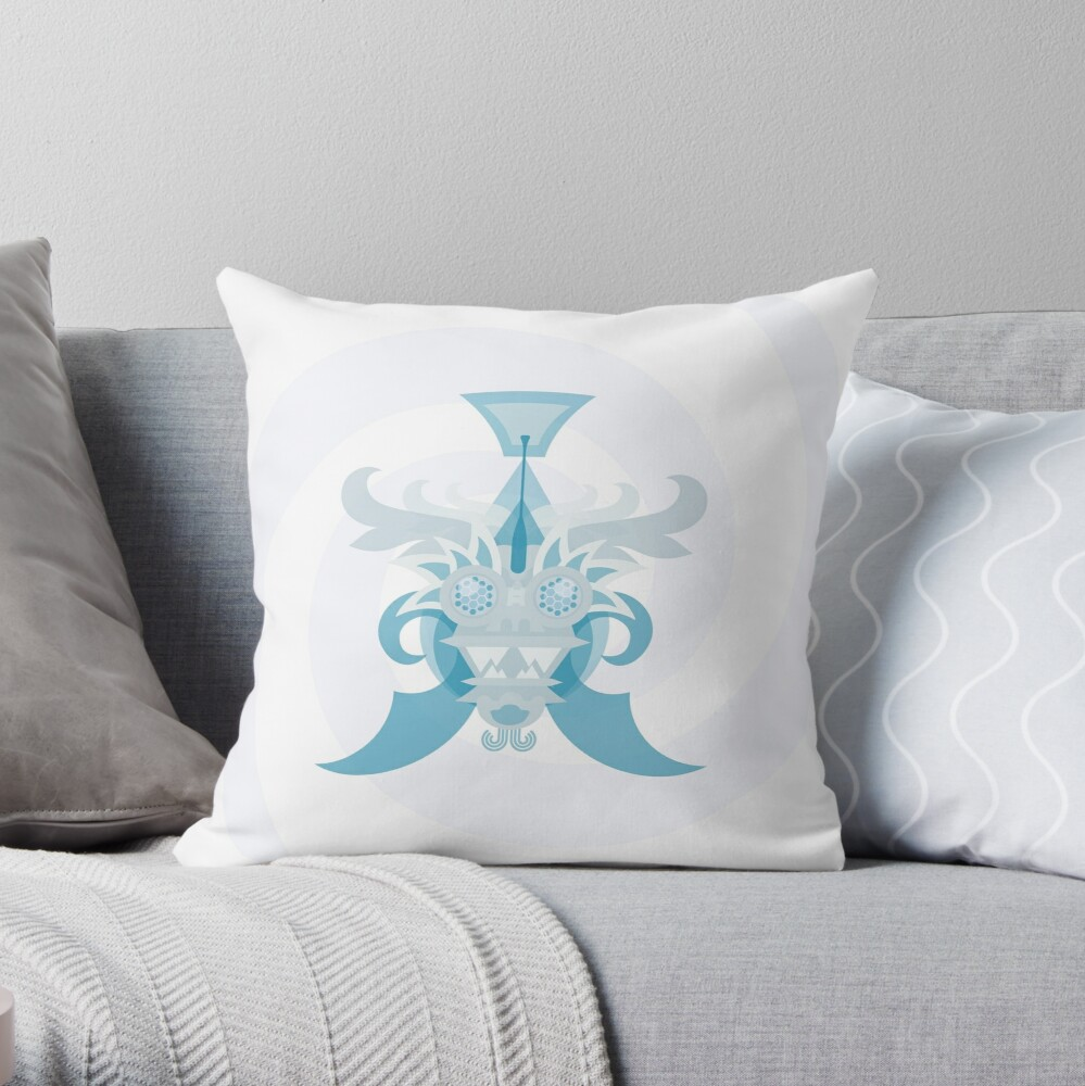 Crystal Sea Creature Throw Pillow