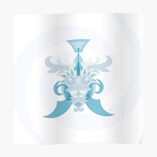 Crystal Sea Creature Poster