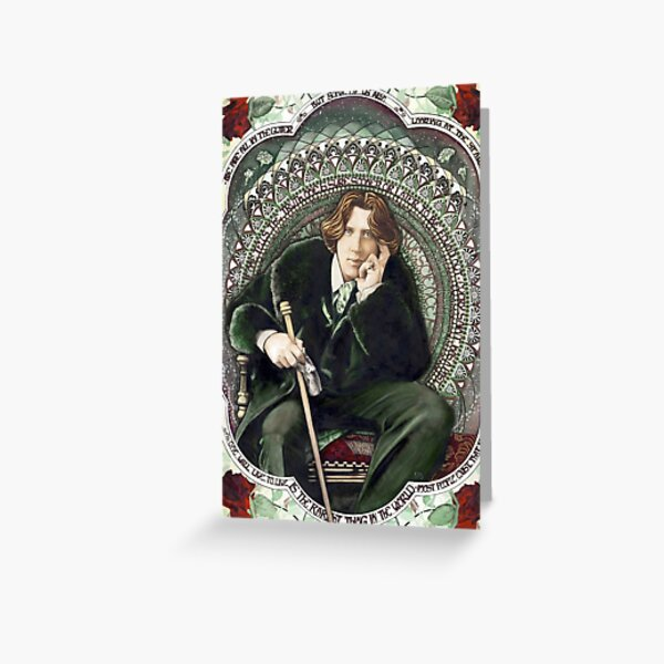 Oscar Wilde 2 Greeting Card