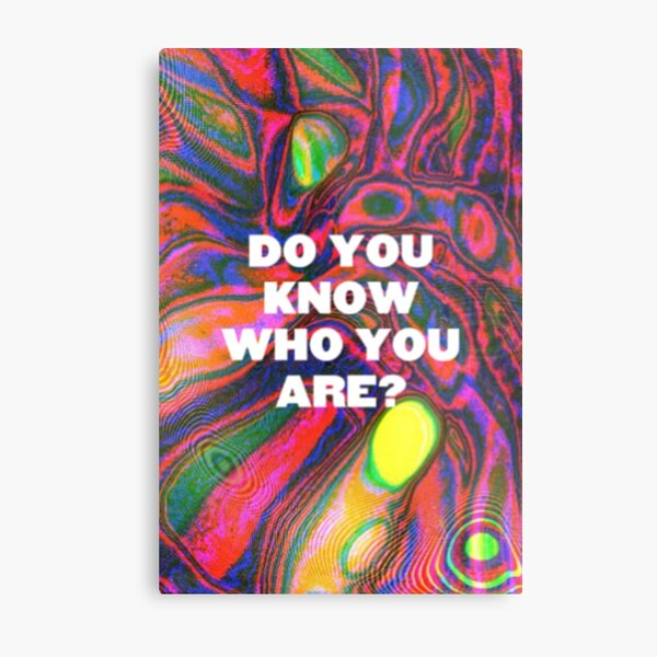 DO YOU KNOW WHO YOU ARE? (HS) Metal Print
