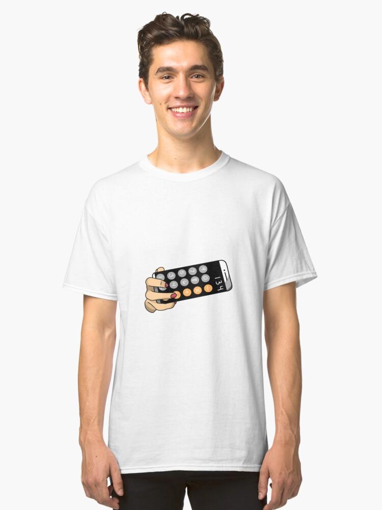 Alternate view of calculator selfie  Classic T-Shirt