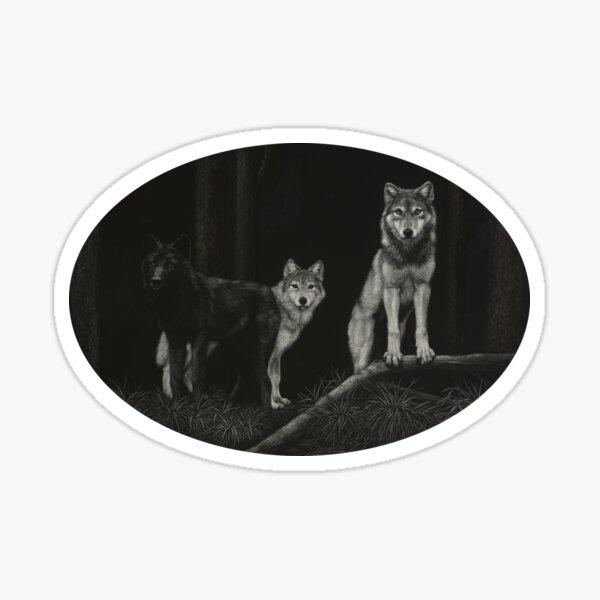 Wolf Trio Sticker