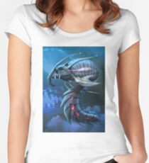 Underwater creature_first version Women's Fitted Scoop T-Shirt