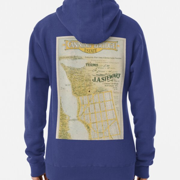 Map of Canning Bridge Estate, Perth, Western Australia, 1920, State Library of Western Australia Pullover Hoodie