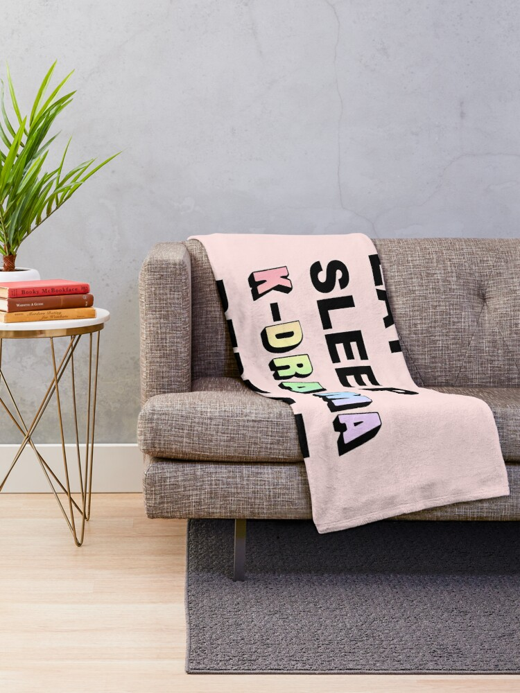 Alternate view of Eat Sleep K-Drama Repeat Throw Blanket