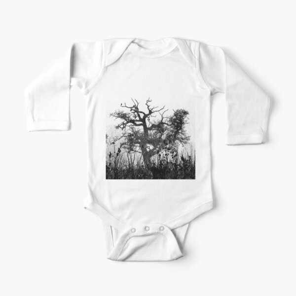 Moon Tree version 2 Long Sleeve Baby One-Piece