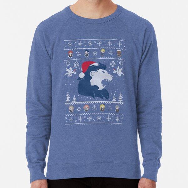 Blue Lions Ugly Christmas Sweater Lightweight Sweatshirt