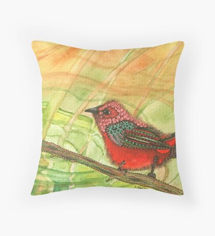 Spring Pond Reflections Throw Pillow