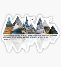 MOVING MOUNTAINS Sticker