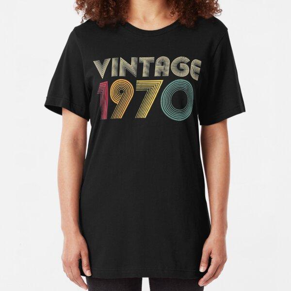 Retro 1970 50th Birthday Gift Classic 50 Years Old Slim Fit T-Shirt
