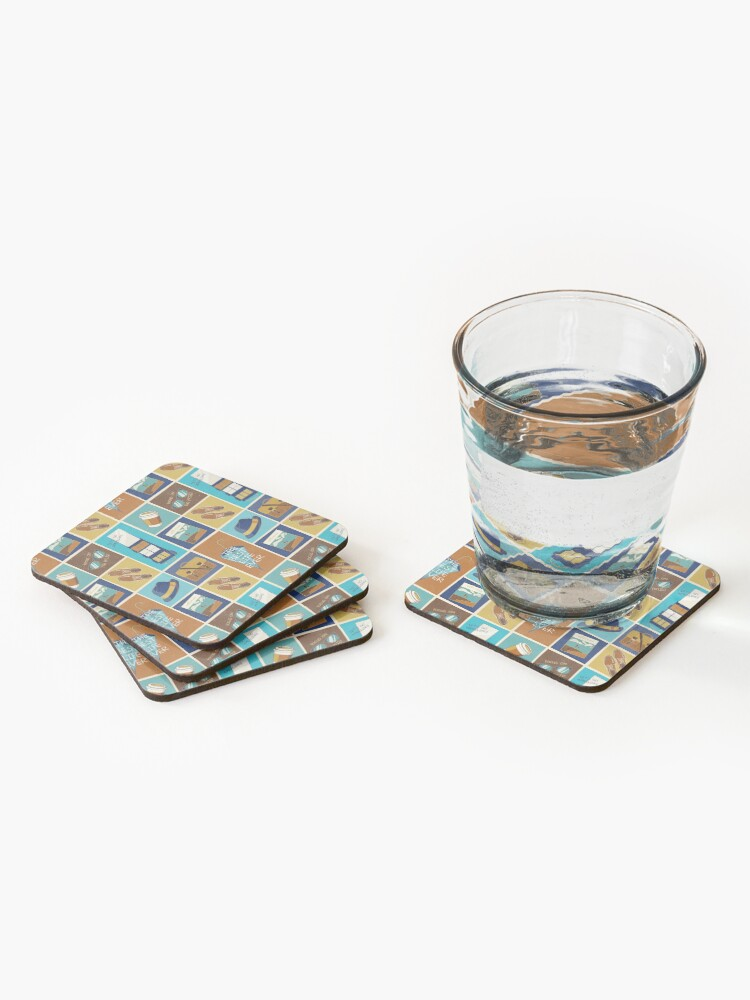 Alternate view of PREACHING ICONS (FOR HIM) Coasters (Set of 4)