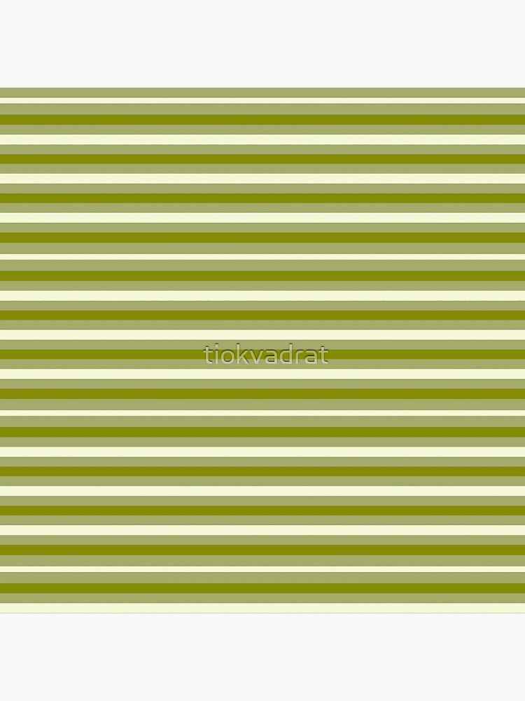 Dinner Stripes - Lemon Green by tiokvadrat
