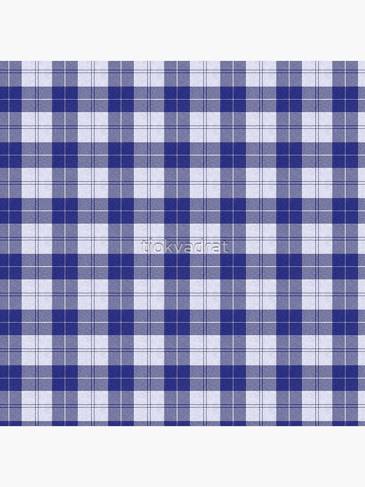 Rich Tartan - Blue / White by tiokvadrat