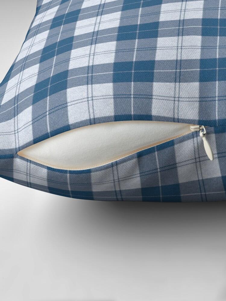 Alternate view of Rich Tartan - Cyan Blue Throw Pillow
