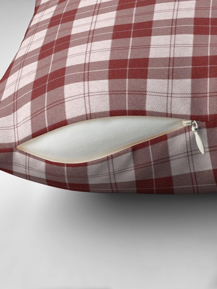 Alternate view of Rich Tartan - Red Throw Pillow