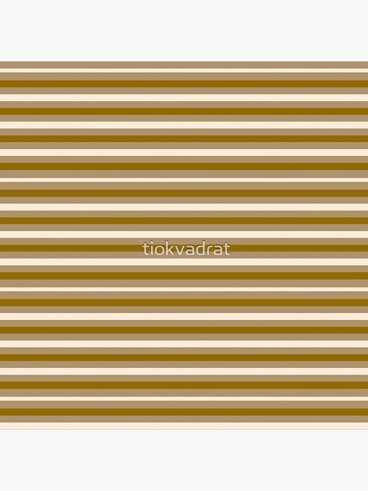 Dinner Stripes - Yellow Orange by tiokvadrat
