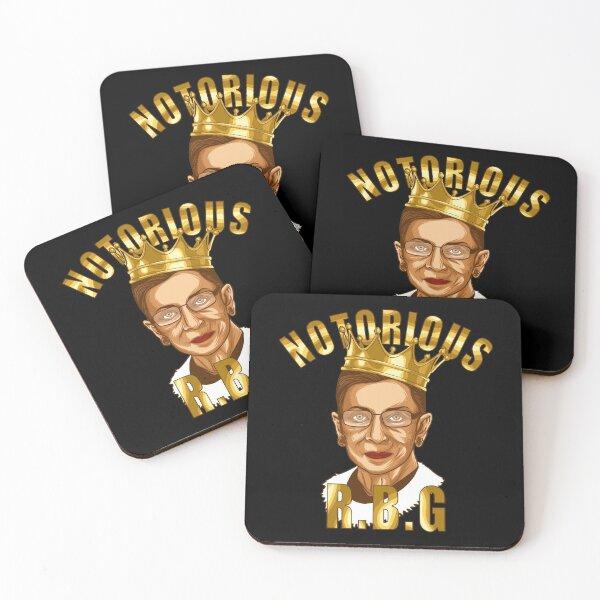 NOTORIOUS RBG ruth bader ginsburg Coasters (Set of 4)
