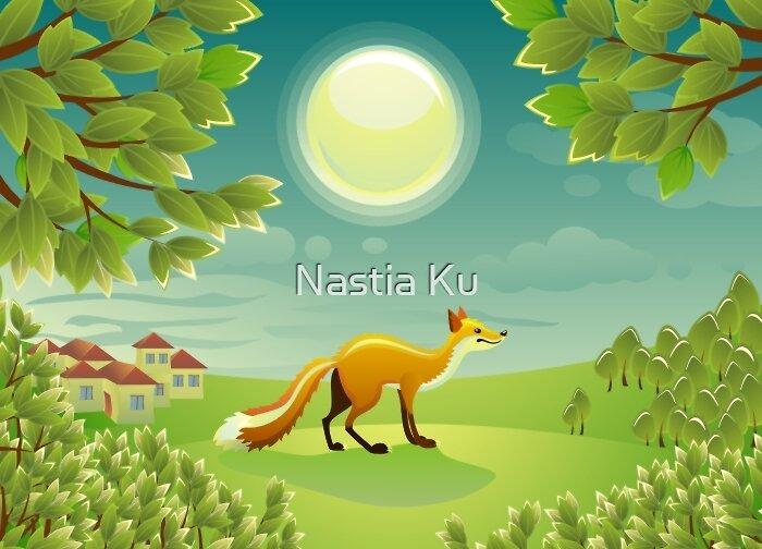 Fox at Night by Anastasiia Kucherenko