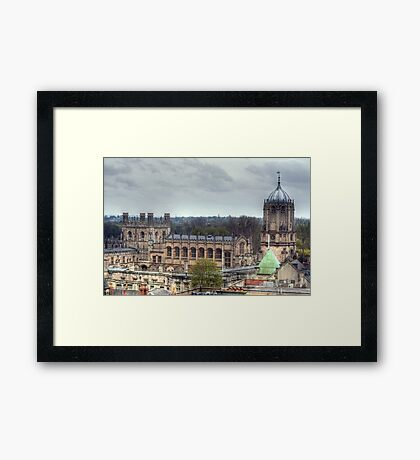 Christ Church Oxford From The Carfax Tower Framed Print