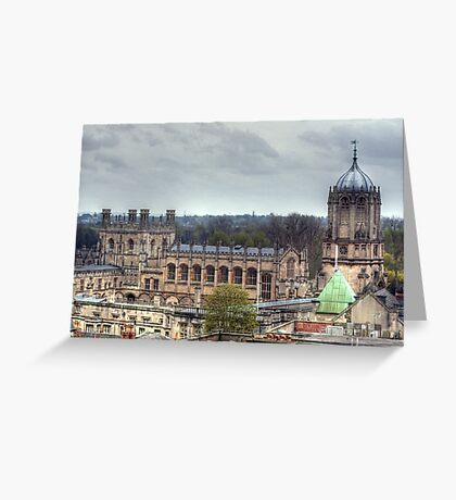 Christ Church Oxford From The Carfax Tower Greeting Card
