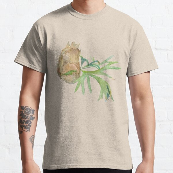 Staghorn Fern. Watercolor painting. Hand painted illustration. Classic T-Shirt