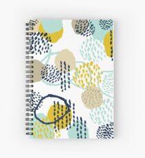 Cuaderno de espiral Jamm - pinceladas de pintura de arte abstracto moderno pintura minimalista colores de moda hipster género neutro