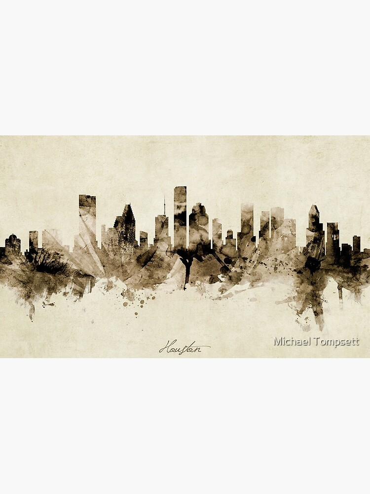 Houston Texas Skyline by ArtPrints