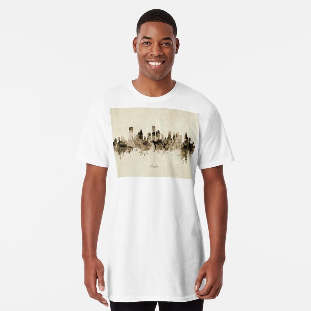 Houston Texas Skyline Long T-Shirt