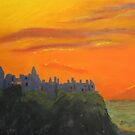 Dunluce Castle at dusk by Hilary Robinson