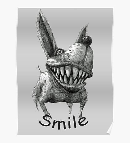 Smile Dog Poster