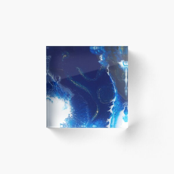 Made to Measure Art, resin art, all designs original, unique peices of art, abstract resin for your home, clothes and other items Acrylic Block