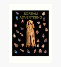 Scream Advertising Art Print