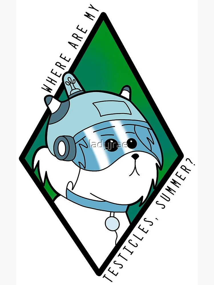 Snuffles - Rick and Morty - Where are my testicles Summer? by ladyjrae