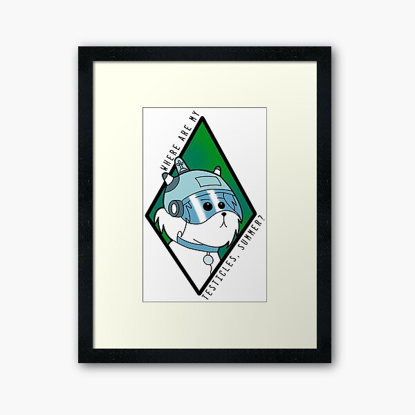 Snuffles - Rick and Morty - Where are my testicles Summer? Framed Art Print