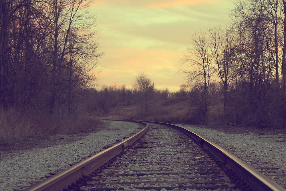 Railroad in sunset by vel0811