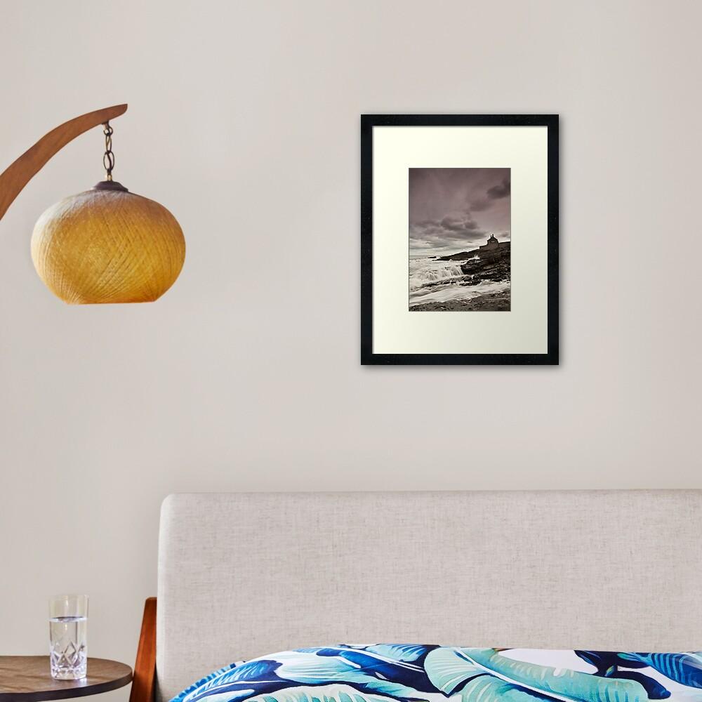 The bathing house Framed Art Print