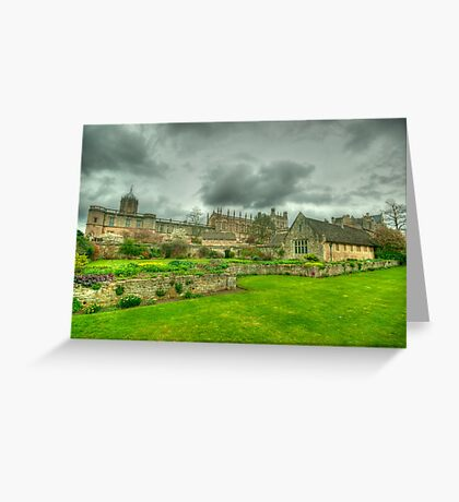 Memorial Gardens & Christ Church Oxford Greeting Card