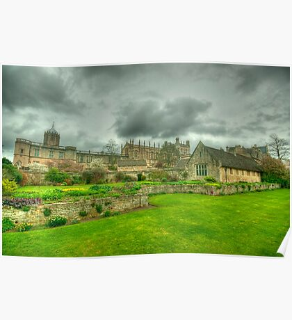 Memorial Gardens & Christ Church Oxford Poster