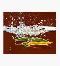 Three Hot Peppers Photographic Print