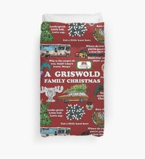 Christmas Vacation Collage Duvet Cover