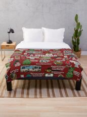 Christmas Vacation Collage Throw Blanket