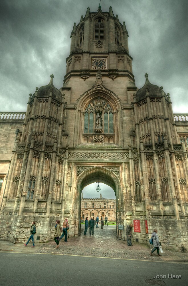 View Into Tom Quad Christ Church Oxford by John Hare