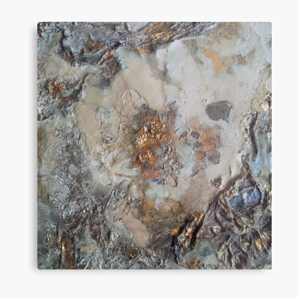 Mother of Pearl and Gold Metal Print
