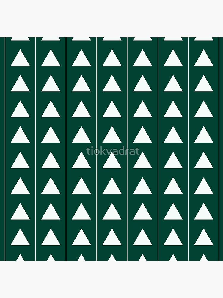 Pyramid Triangles - Turquoise Green by tiokvadrat