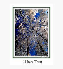 I Hear Thee! Photographic Print
