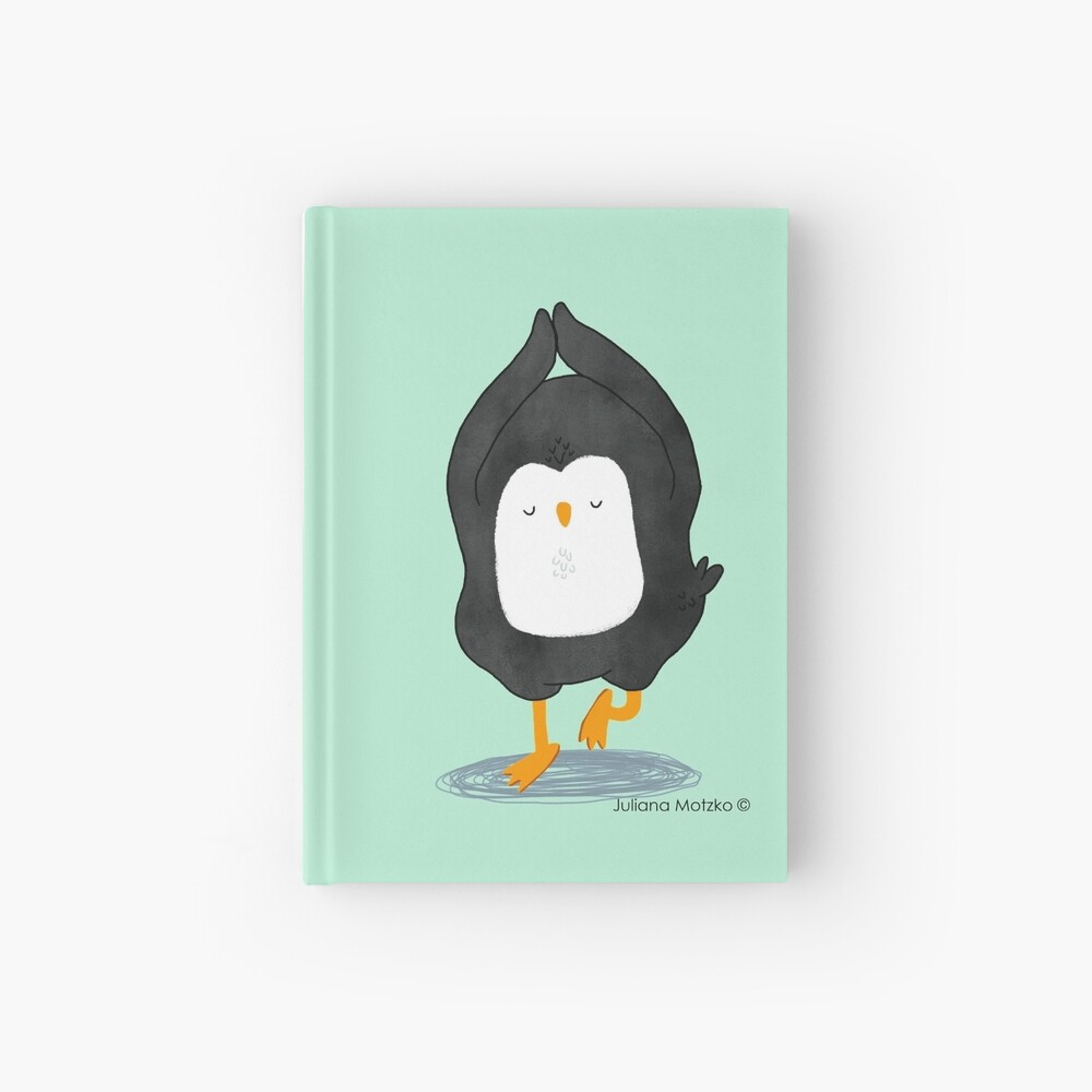Yoga Penguin Hardcover Journal