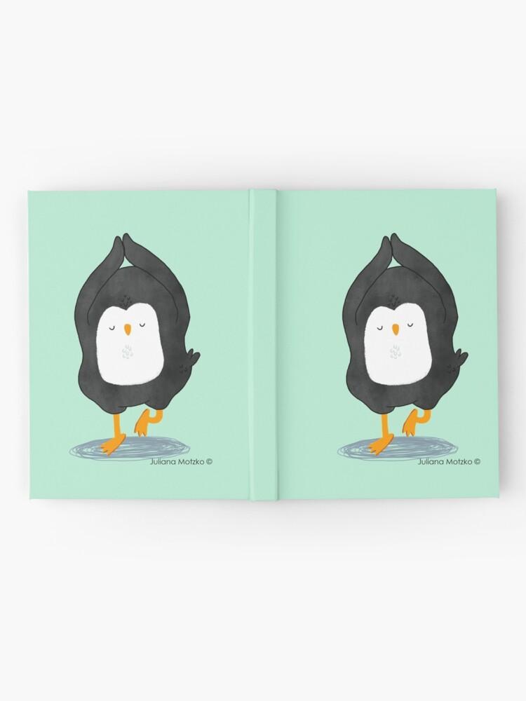 Alternate view of Yoga Penguin Hardcover Journal
