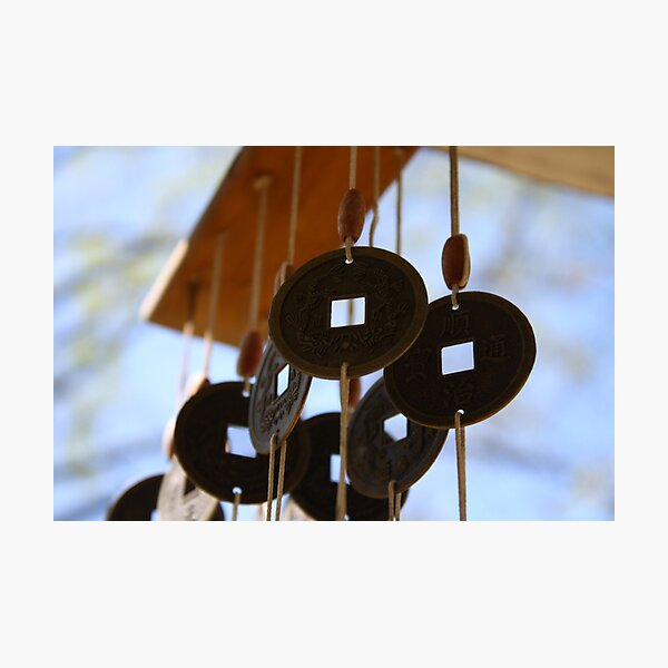 Coin Wind Chime Photographic Print