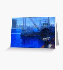 Boat crane Greeting Card