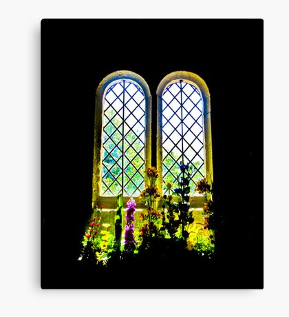 Flowers inside St Boniface Canvas Print